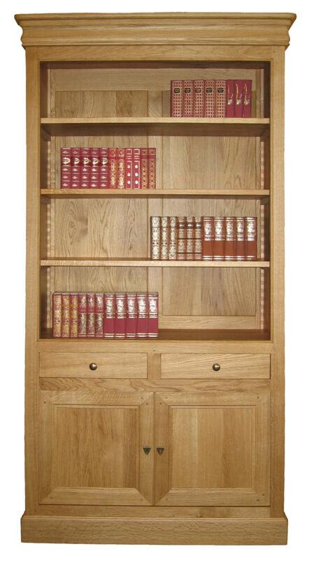 Biblioth?que Bois Massif Ikea : coulissantes – Louis Philippe merisier d?corateur – bois 100% massif