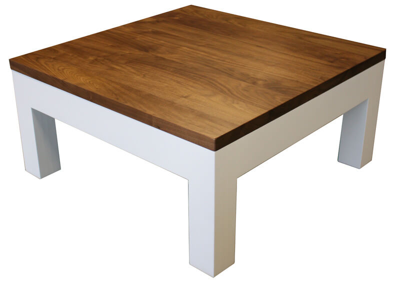 table basse 2 tiroirs noyer naturel corian blanc. Black Bedroom Furniture Sets. Home Design Ideas