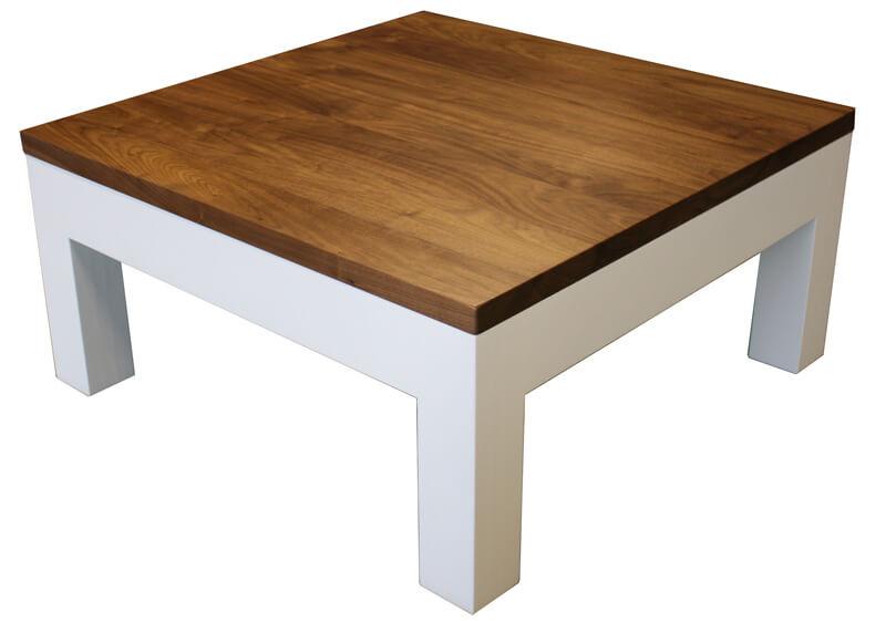 Table basse 1 tiroir Chêne blanchi & Noyer naturel