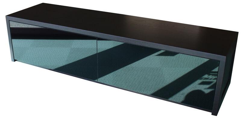 Buffet tv 4 tiroirs milieu 1 niche avec l ment mural 2 portes relevantes ch - Meuble tv wenge et verre ...