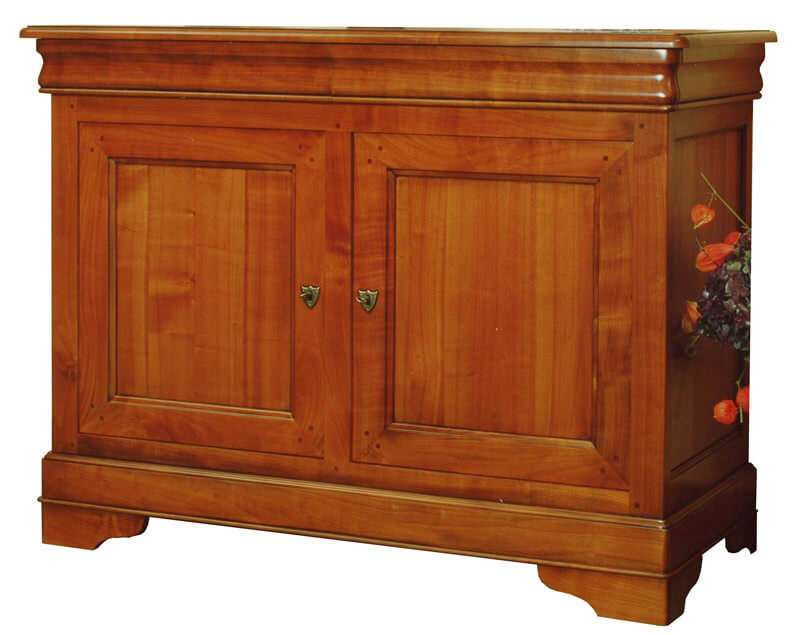 buffet 2 portes 2 tiroirs en doucine louis philippe. Black Bedroom Furniture Sets. Home Design Ideas